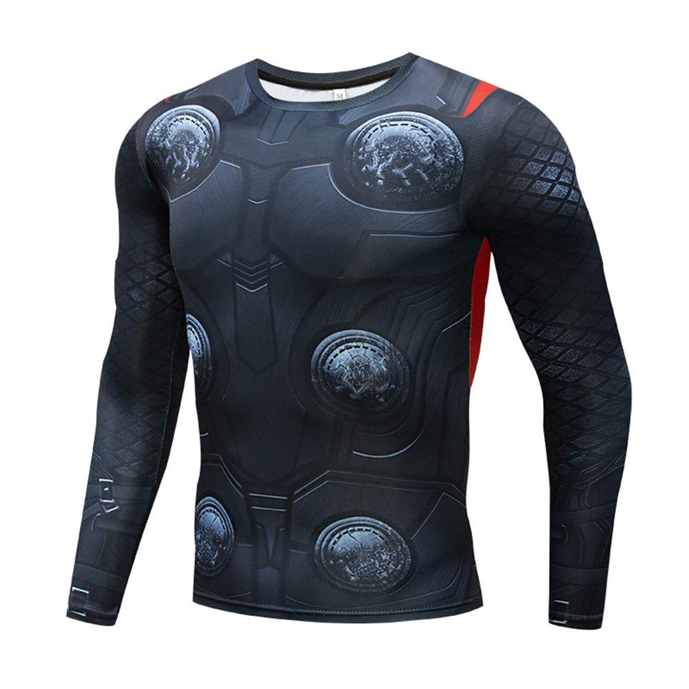 Quick Cool Dry Fit Tights Superhero Long Sleeve Athlete Baselayer Armour Black