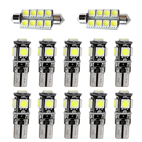 Muchkey luz de interior coche Para 318 320 320i 325 335 E90 E92 Auto Dome Bombilla Kit Blanco 12pcs