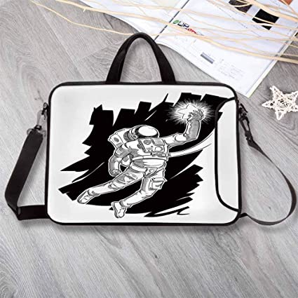 a657e1ed2a58 Amazon.com: Astronaut Stylish Neoprene Laptop Bag,Sketch of Spaceman ...