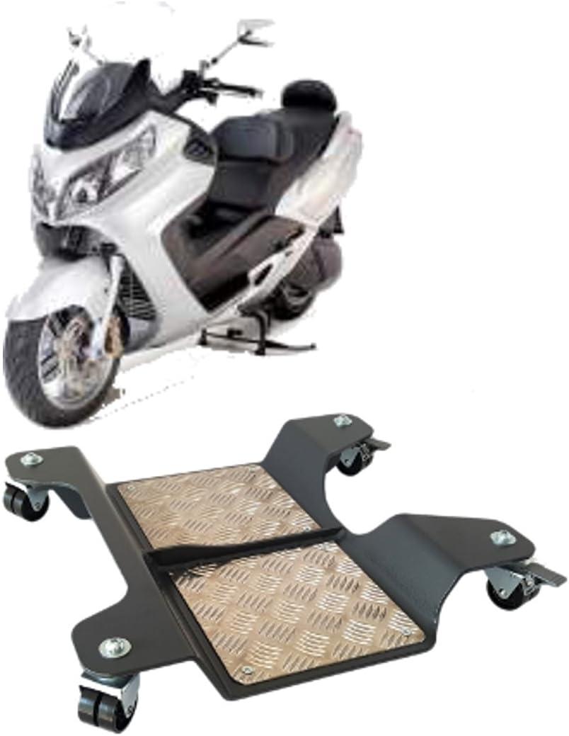 Carrello sposta moto Pedana moto scooter ciclomotori 60x42x7,5cm 250kg