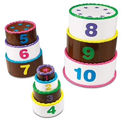 Learning Resources Stack and Count Layer Cake, Homeschool, Early Stacking & Counting Skills, Fine Motor Skills, 10 Pieces, Ages 18 mos+: Toys & Games