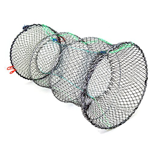 Collapsible Crab Traps (Jmkcoz 1PC Crab Trap Crawfish Lobster Shrimp Collapsible Cast Net Fishing Nets 10