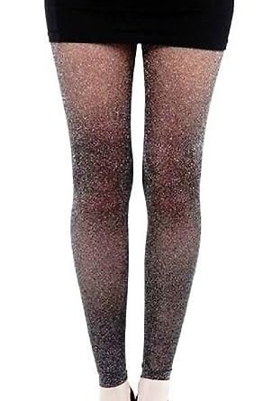 83a5c42eca0 Black Gold Lurex Glitter Sparkle Footless Tights Metallic Legging Amber   Amazon.co.uk  Clothing