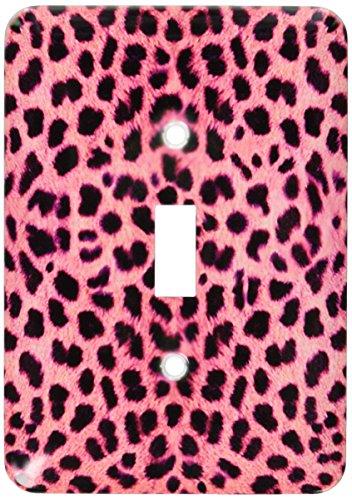 3dRose LLC lsp_20341_1 Pink Cheetah Animal Print - Single Toggle Switch (Cheetah Print Light Switch Cover)
