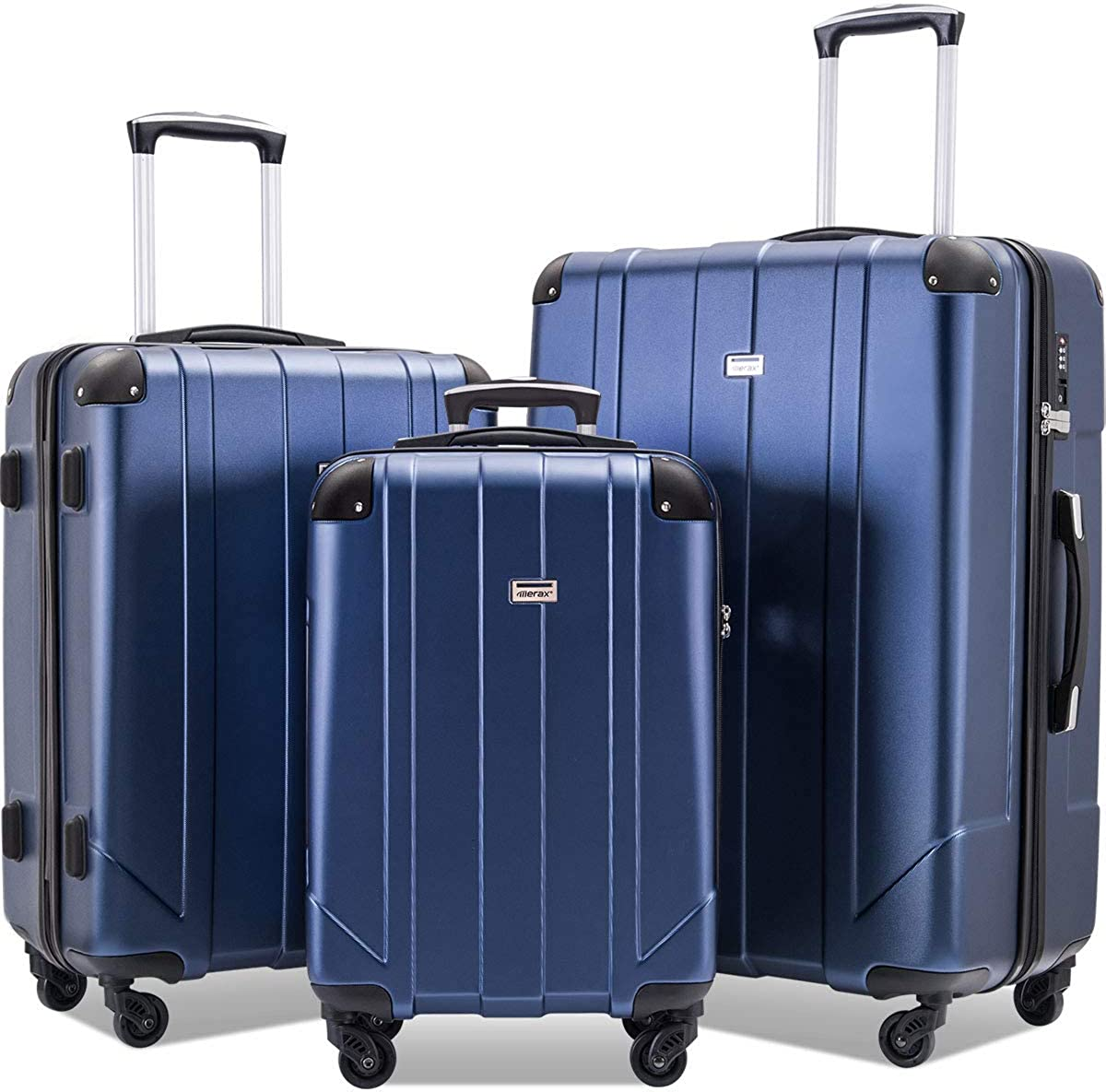 3 Piece Lightweight P.E.T Luggage 20inch 24inch 28inch Merax Luggage Sets with TSA Locks