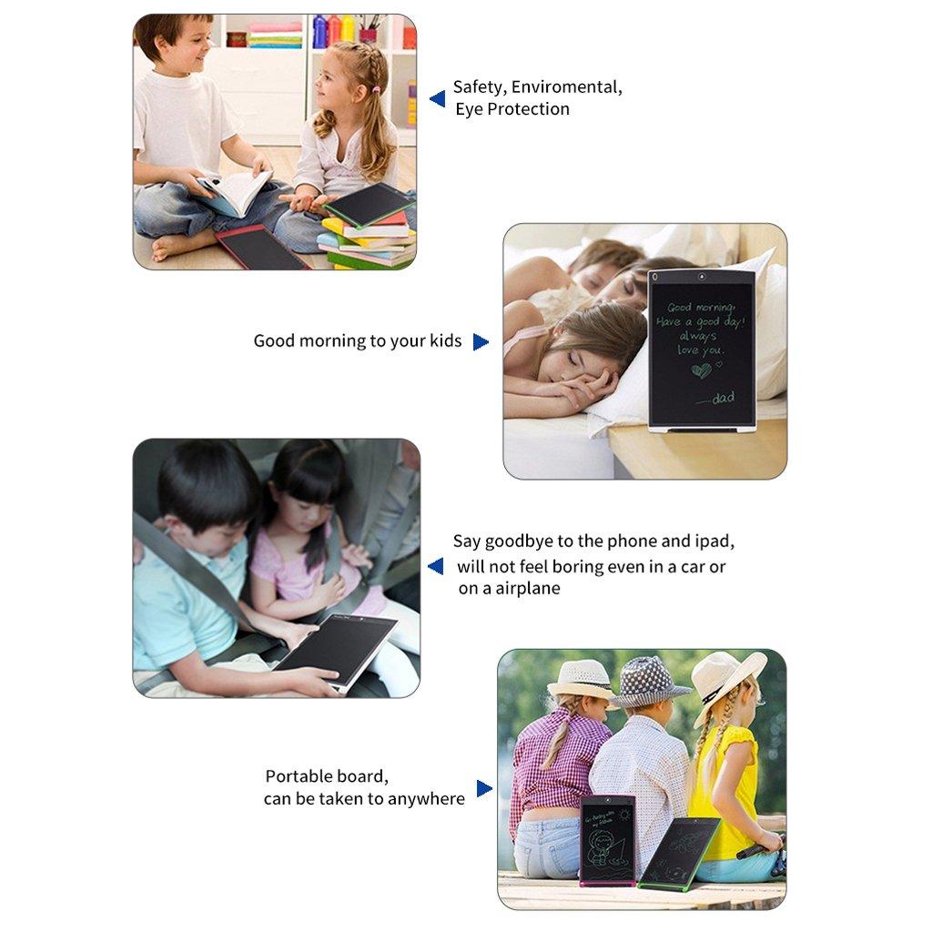 MagiDeal 12 Pulgadas LCD Tablette LCD Escritura Tablette con lápiz Regalos para niños Ojo sin Haz: Amazon.es: Electrónica