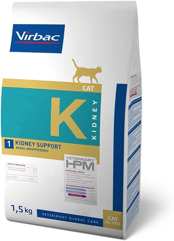 Veterinary Hpm Virbac Hpm Gato K1 Kidney Support 1,5Kg Virbac 00982 1500 g: Amazon.es: Productos para mascotas