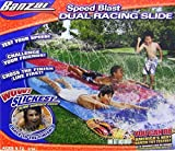 #10: Banzai 16 Foot Speed Blast Dual Racing Water Slide With Spray Splash Pool and Water Spraying Side Rails