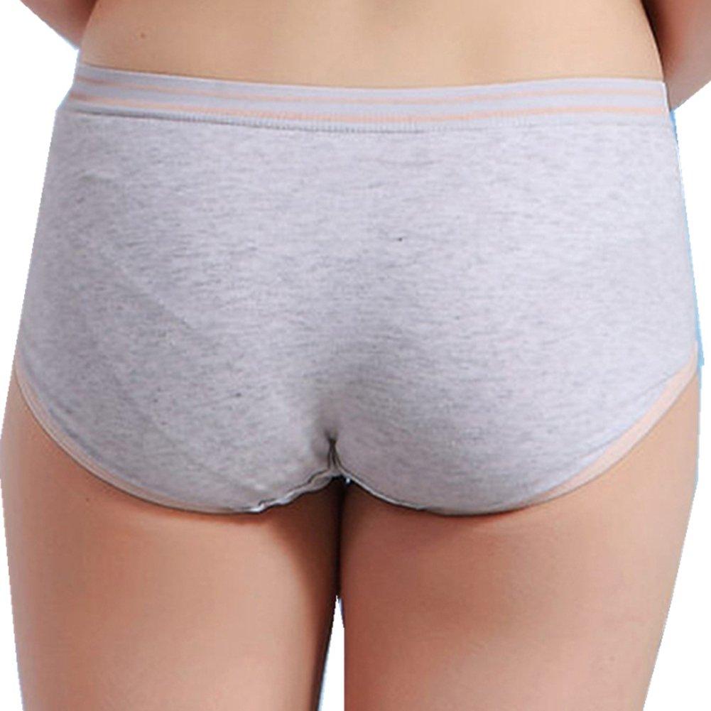 VictorySweety Big girls Cotton Sports Sweat Absorbing Low-waist Panties 4 pieces