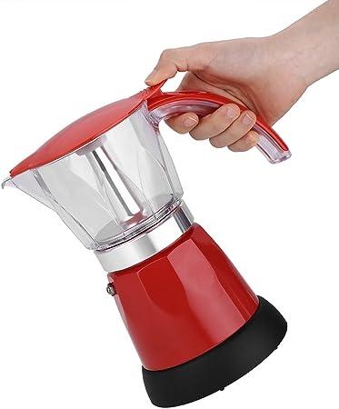 Jimfoty Olla Moka eléctrica de Alta Resistencia, cafetera Desmontable de 300 ml, 220-240 V 480 W para el hogar para la Oficina(Red): Amazon.es: Hogar