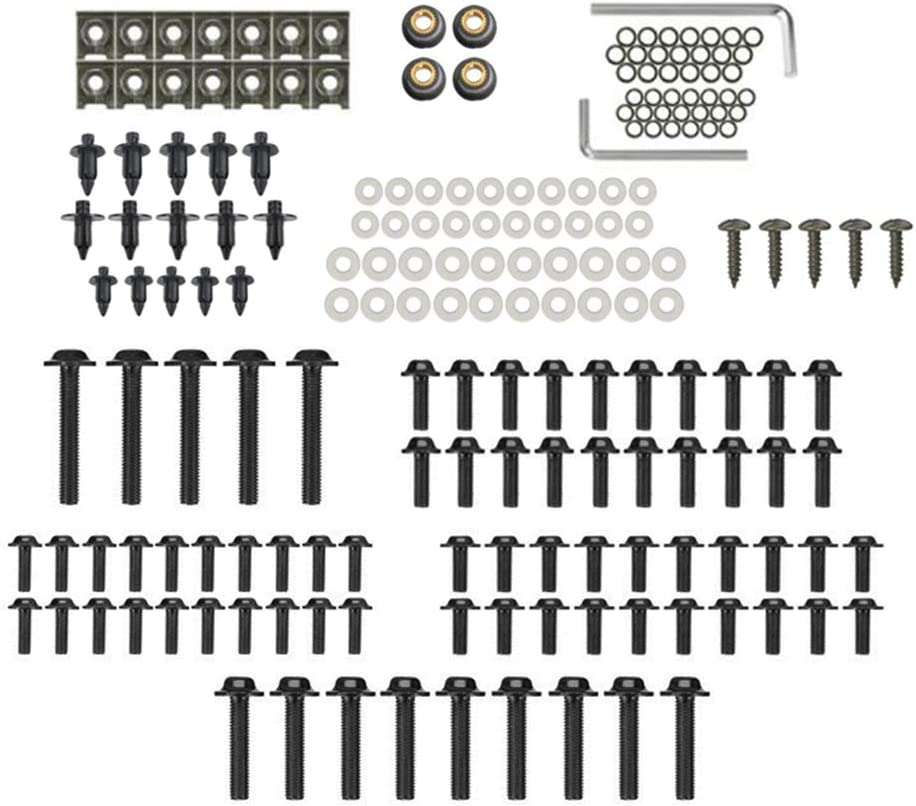Festnight Complete Motorcycle Fairing Bolts Screws Bodywork Kit 194pcs Fasterners Kit Set