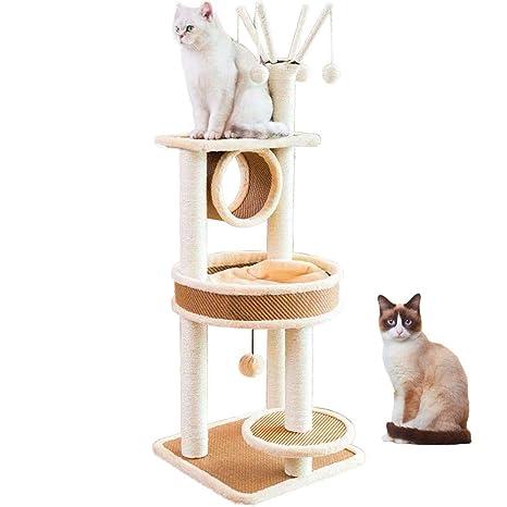 LBLA Árbol para Gatos, Rascador para Gatos con Cama - Hamaca ...
