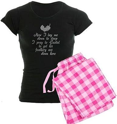 CafePress – Supernatural Castiel de la mujer oscuro juego de pijama – pijama de mujer, algodón, cómodo PJ pijamas: Amazon.es: Ropa y accesorios