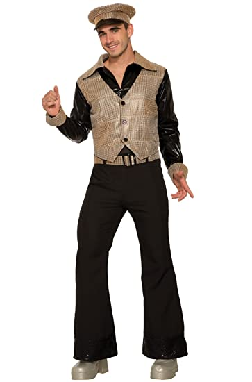 70s Costumes: Disco Costumes, Hippie Outfits Forum Novelties Gold Disco King Adult Costume- $37.36 AT vintagedancer.com