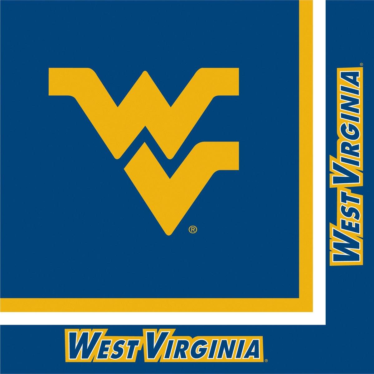 West Virginia Mountaineers Lunch Napkins ウェストバージニアマウンテニアランチナプキンハロウィンクリスマス B005DGIHAG ブラック