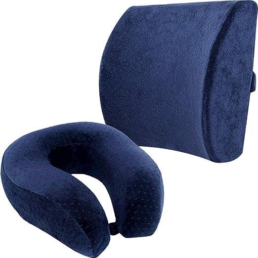 GuoWei-Cojin Lumbar Almohada de Cuello Espalda Apoyo Espuma ...