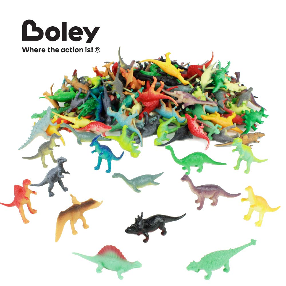 Cake Toppers Colorful Mini Plastic Dinosaur Toy Figure Variety Pack Perfect for Party Packs Boley 150 Pack Miniature Dinosaur Toy Set and Stocking Stuffers! Party Favors