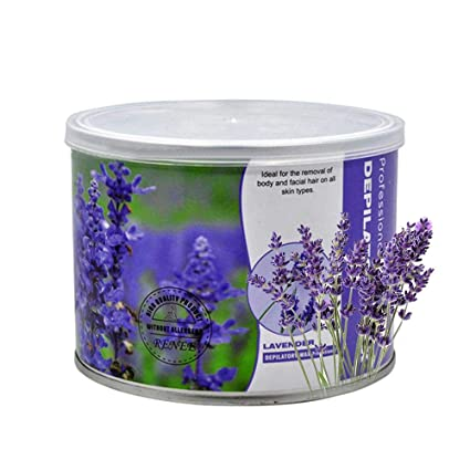 Aolvo Cera Depilatoria Profesional, Natural Cera de 400ml Pote de Crema Depilatoria para Eliminar Vello