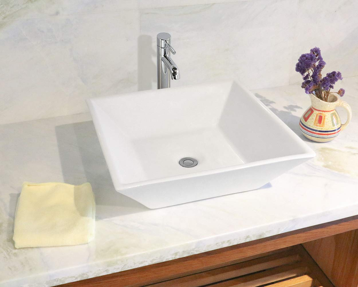 Bathroom clear boat oval Glass Vessel Vanity Sink TB15E3 Oil Rubbed Bronze Faucet