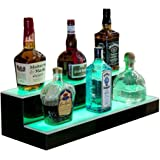 Amazon.com: 18-Inch 2 pisos de licor botella estante, color ...