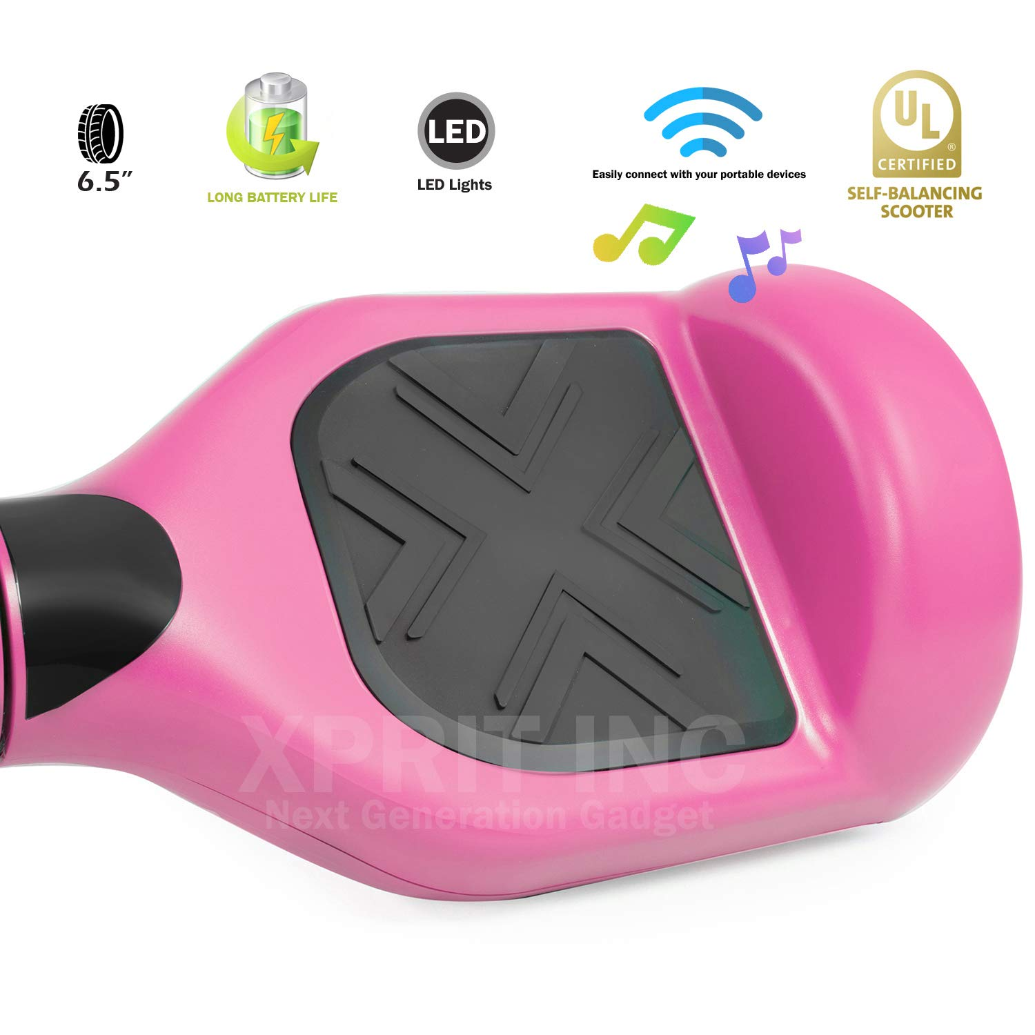 XPRIT Easter Sale Hoverboard w/Bluetooth Speaker (Pink) by XPRIT (Image #2)