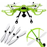 Happycat 4Pcs Propellers Spare part Fitting for JJRC H26 H26W H26D Quadcopter (White)