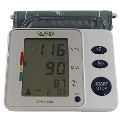 Gurin Upper Arm Digital Blood pressure Monitor with Case - 2 User - Medium Cuff