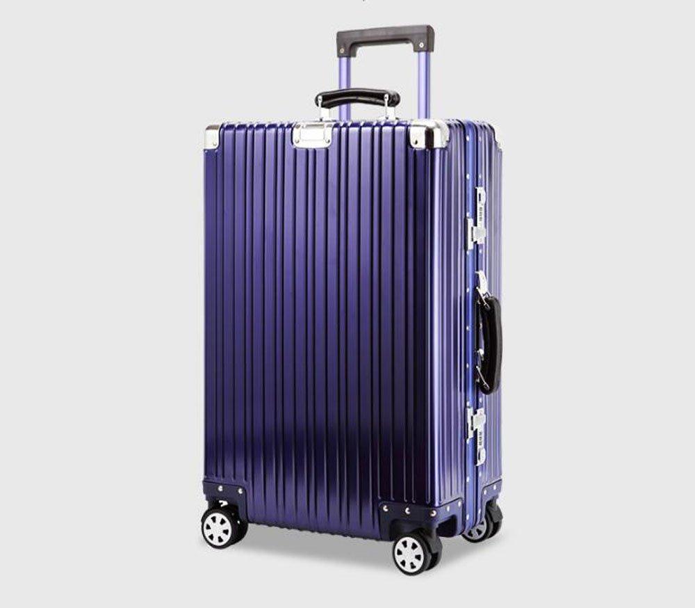 cas-02 スーツケース キャリーケース 全金属 旅行ケース TSAロック搭載 トランク B06XS48TJZ 20インチ|ブルー ブルー 20インチ