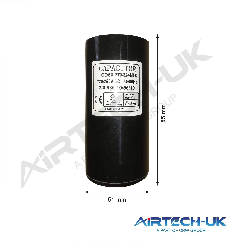 Condensador de arranque de motor el/éctrico de 50 uf a 400 uf 220-250 V Start Capacitor 80-100MFD