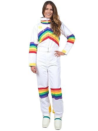 Amazon.com  Women s Sunrise Shredder Rainbow Ski Suit - Retro Neon ... d8e18a1ce