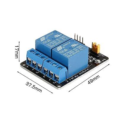 Tarjeta de interfaz de módulo de relé de 5V y 2 canales ...