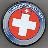 Switzerland Olympic Country Hockey Puck + FREE Puck Cube