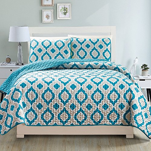 Fashion Street Gabana 3 Pc Bedspread, King Teal