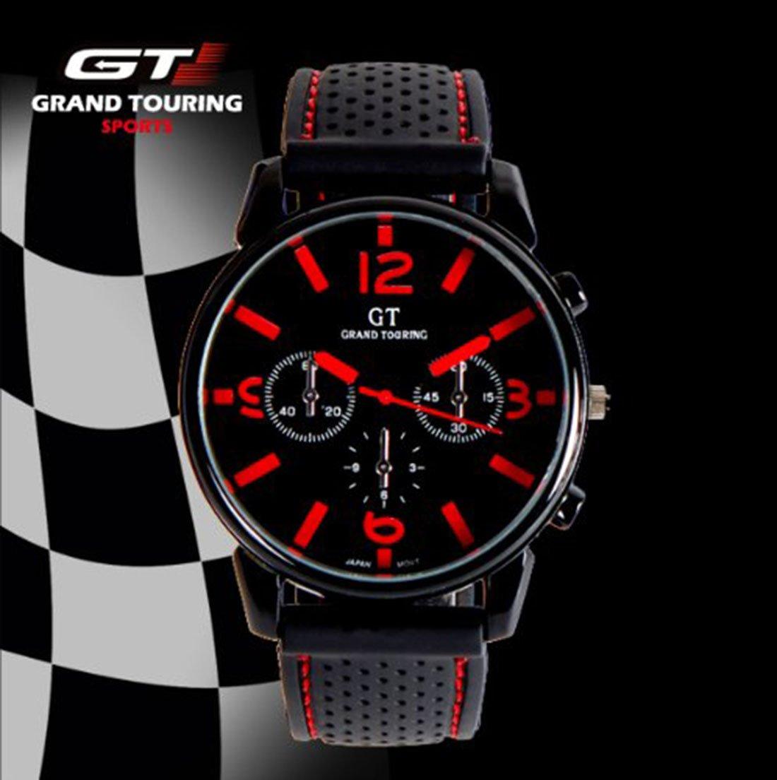 Eglemtek Sport GT Grand Touring F1 Racing - Reloj deportivo, color rojo: Amazon.es: Deportes y aire libre