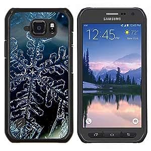 """Be-Star Único Patrón Plástico Duro Fundas Cover Cubre Hard Case Cover Para Samsung Galaxy S6 active / SM-G890 (NOT S6) ( Cristal de la nieve del invierno del copo de hielo"""" )"""