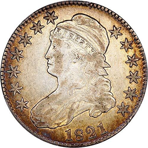 1821 P Bust Half Dollars Half Dollar 98 PCGS ()