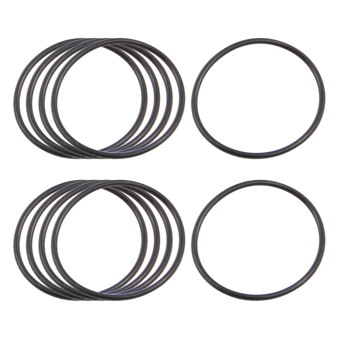 Amazon.com: uxcell 10 x Black Nitrile Rubber O Ring Grommets Seal ...