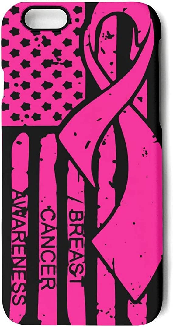 Amazon Com 2019 Breast Cancer Awareness Ribbon American Flag Cutting File Protection Cover Phone Case For Apple Iphone 6 Plus Iphone 6s Plus