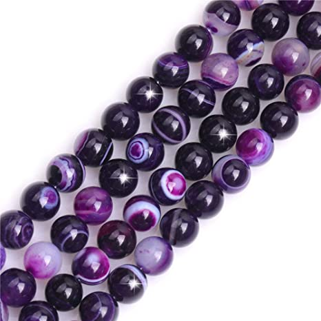 Mixed Semi Precious 30 Pcs 10 mm Chakra Loose Beads