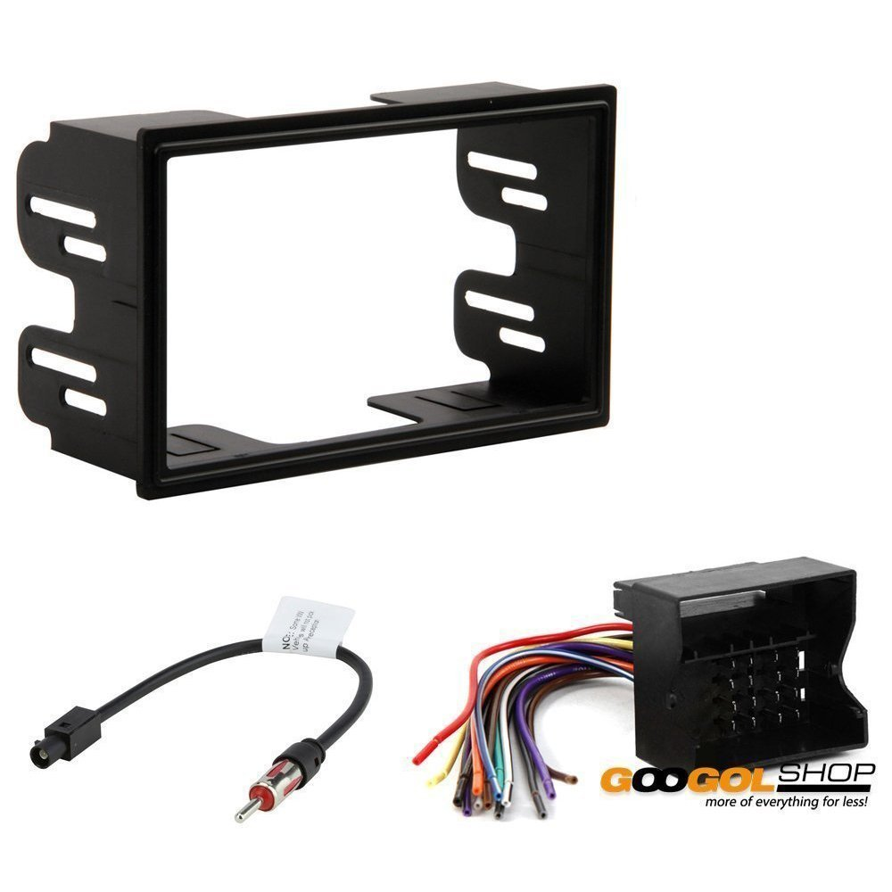 Volkswagen 1999-2002 Jetta (W/Factory Double DIN Radio) CAR Stereo Dash Install MOUNTING KIT Wire Harness Radio Antenna