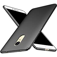 Tidel All Angle Protection 360 Degree Ultra-Slim Lightweight Rubberised Matte Hard Case Back Cover for Xiaomi Redmi Note 4 [ Black ]