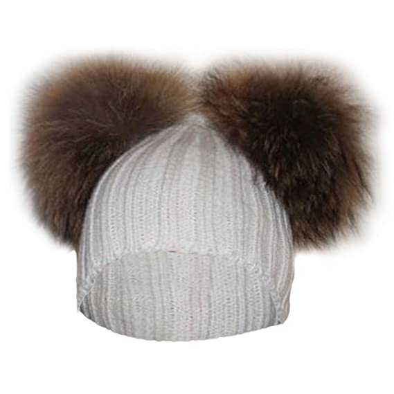 ZLFT Gorro de invierno con gorro de lana para mujer con gorro de ...