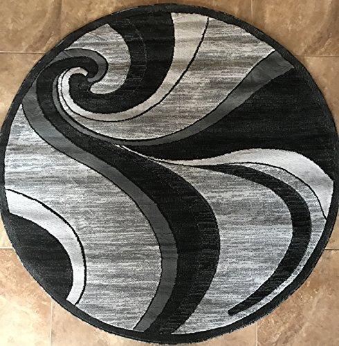 Amazon Com Modern Round Contemporary Area Rug Grey