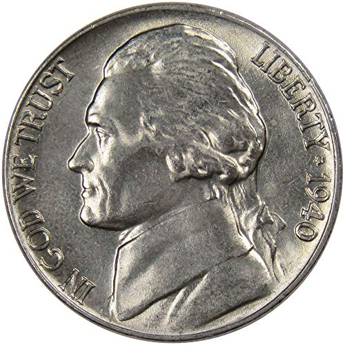 1940 5c Jefferson Nickel Uncirculated Mint State ()