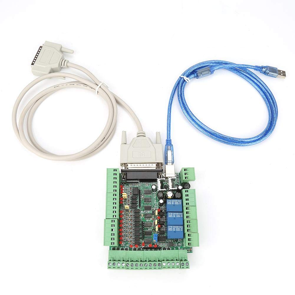 4Axis 5Axis 6Axis CNC Interface Breakout Board, 0-10VPWM CNC Engraving Machine Controller with USB Cable Parallel Cable by Wal front