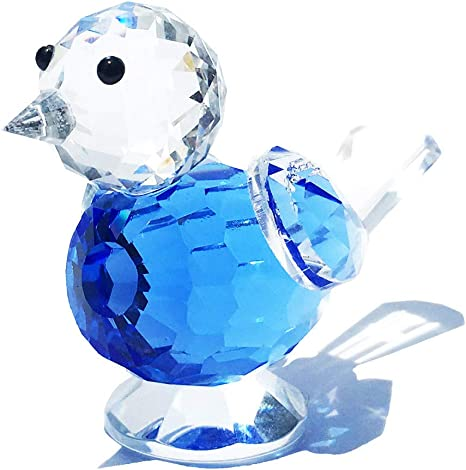 """Glass 3/"""" Squirrel Paperweight Figurine Choose Clear approx Blue or Green"""