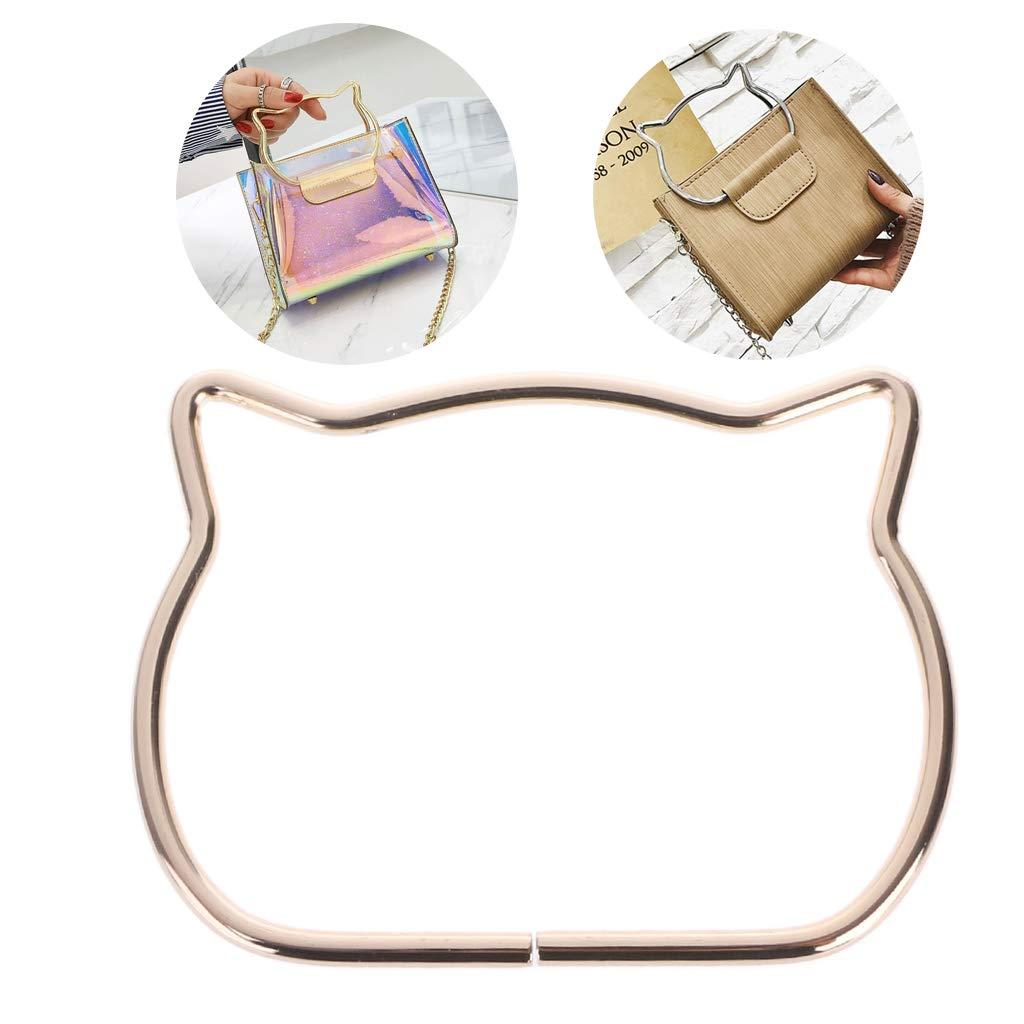SimpleLif Metal Bag Handle,Cute Cat Ear Handle DIY Shoulder Bags Making Handbag Handle Replacement Accessories by SimpleLif (Image #1)