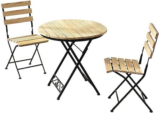 Juego de mesa y sillas de comedor plegables, silla de cocina de 3 ...