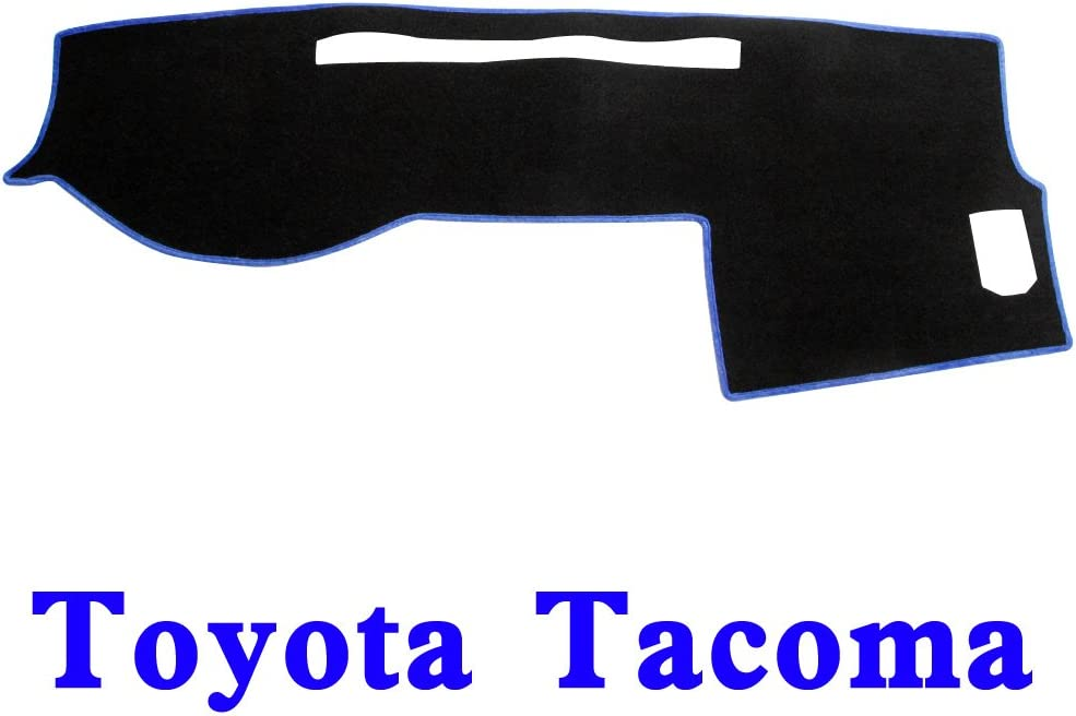 BLK-BLU MR-035 JIAKANUO Auto Car Dashboard Carpet Dash Board Cover Mat Fit Toyota Tacoma 2005-2015