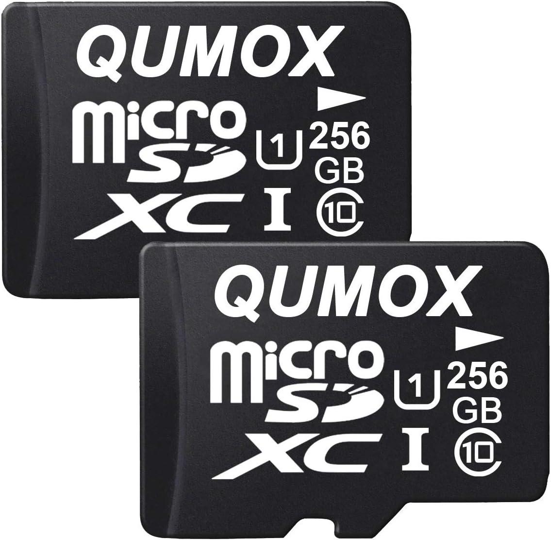 Qumox 2x 256gb Micro Sd Memory Card Class 10 Uhs I 256 Computer Zubehör